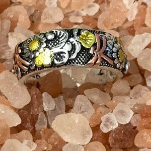 Vintage Style 925 Silver Rose 🌹 dragonfly ring 6